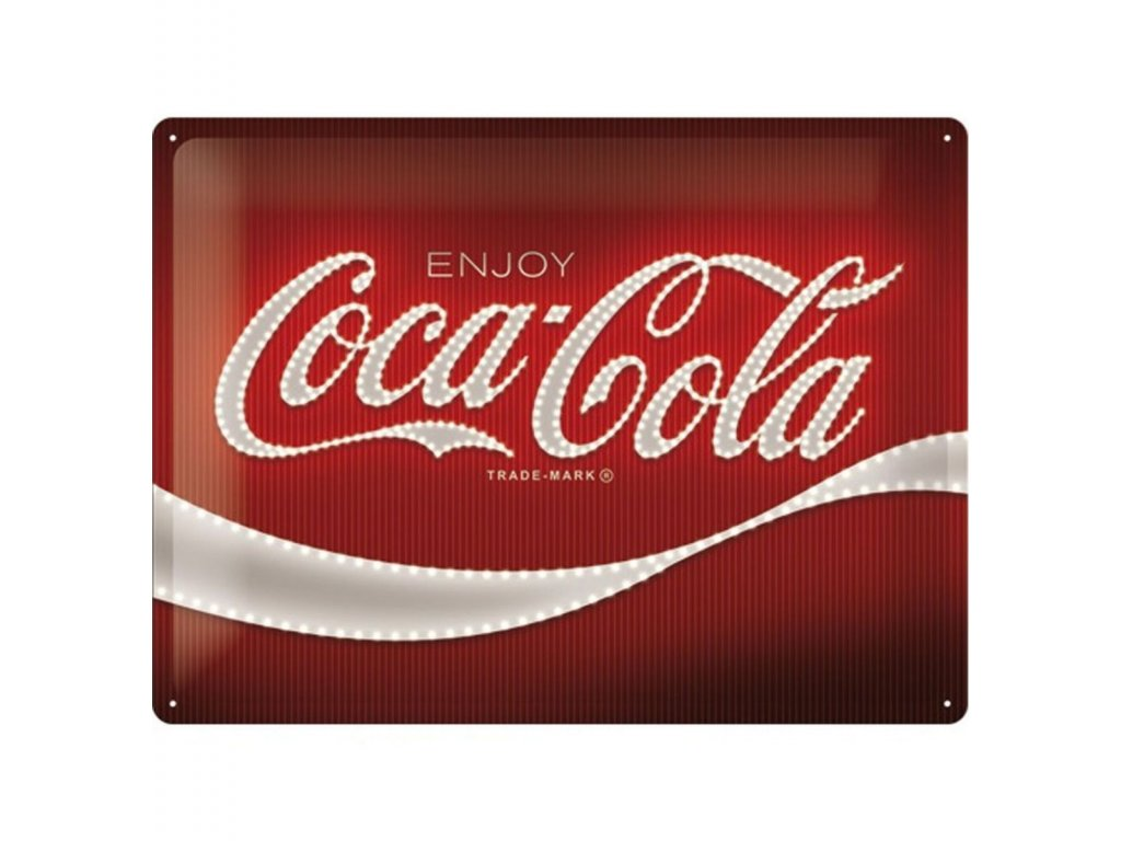 Plechová Ceduľa Coca-Cola Lights Logo