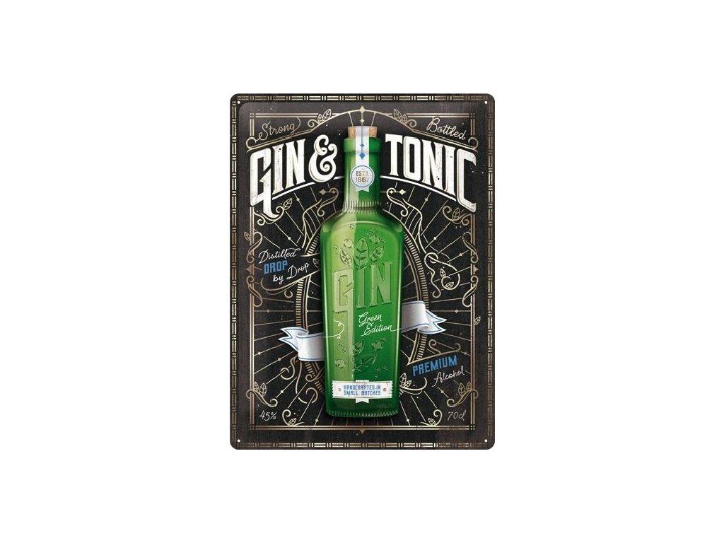 Plechová Ceduľa Gin a Tonic Premium