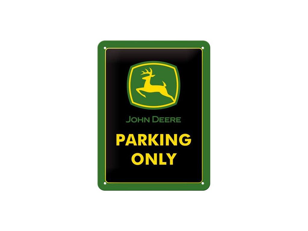 Plechová Ceduľa John Deere Parking Only