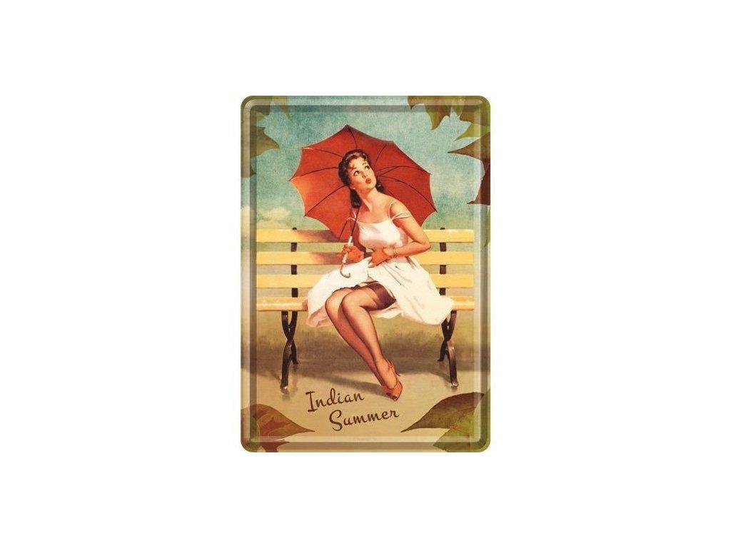 Plechová Pohľadnica Indian Summer