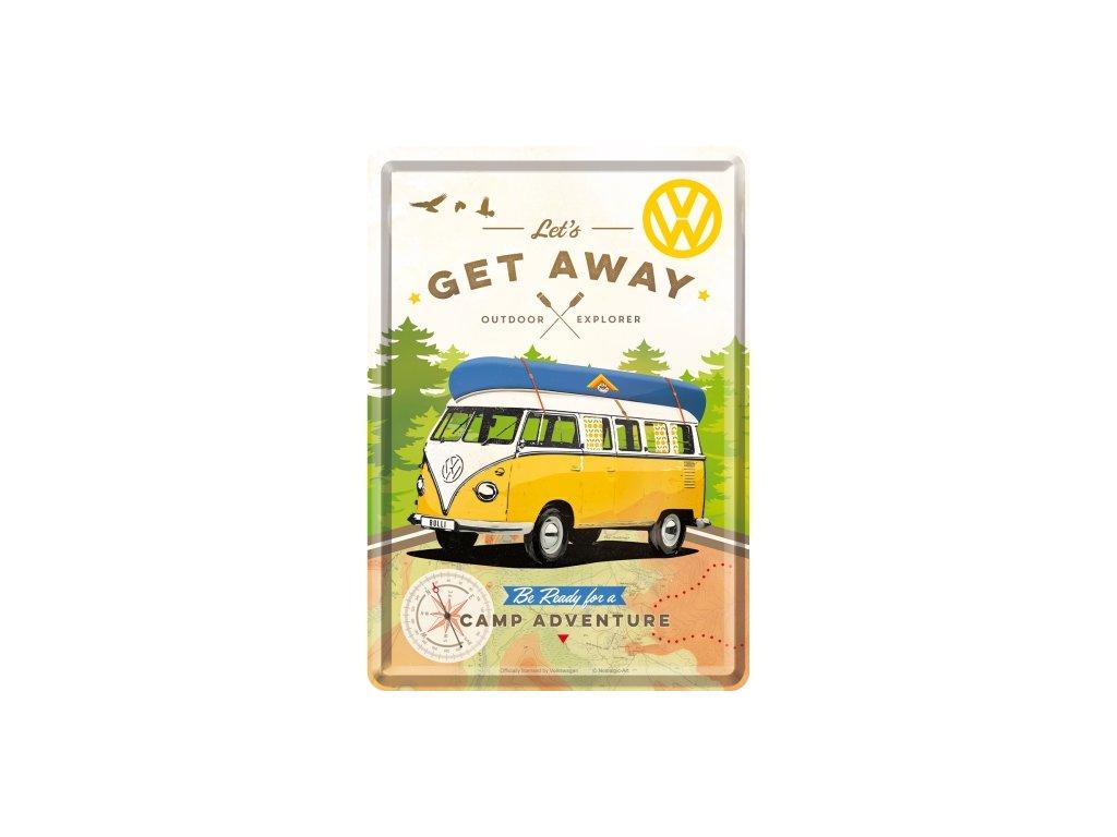 Plechová Pohľadnica VW Camp Adventure