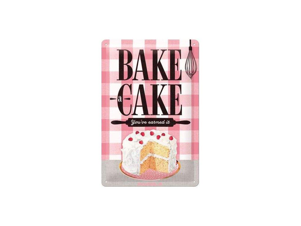 Plechová Ceduľa Bake Cake