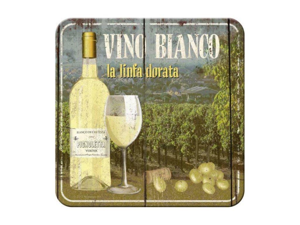 Plechové Podtácky Vino Bianco