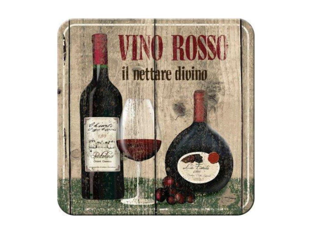 Plechové Podtácky Vino Rosso