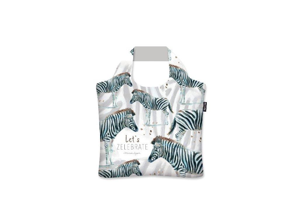 Eko taška ECOZZ - The Zebra - Michelle Dujardin