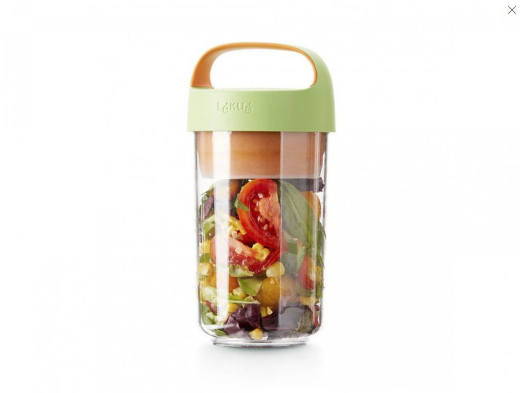 Desiatový Box Jar To Go 600 ML - Zelený