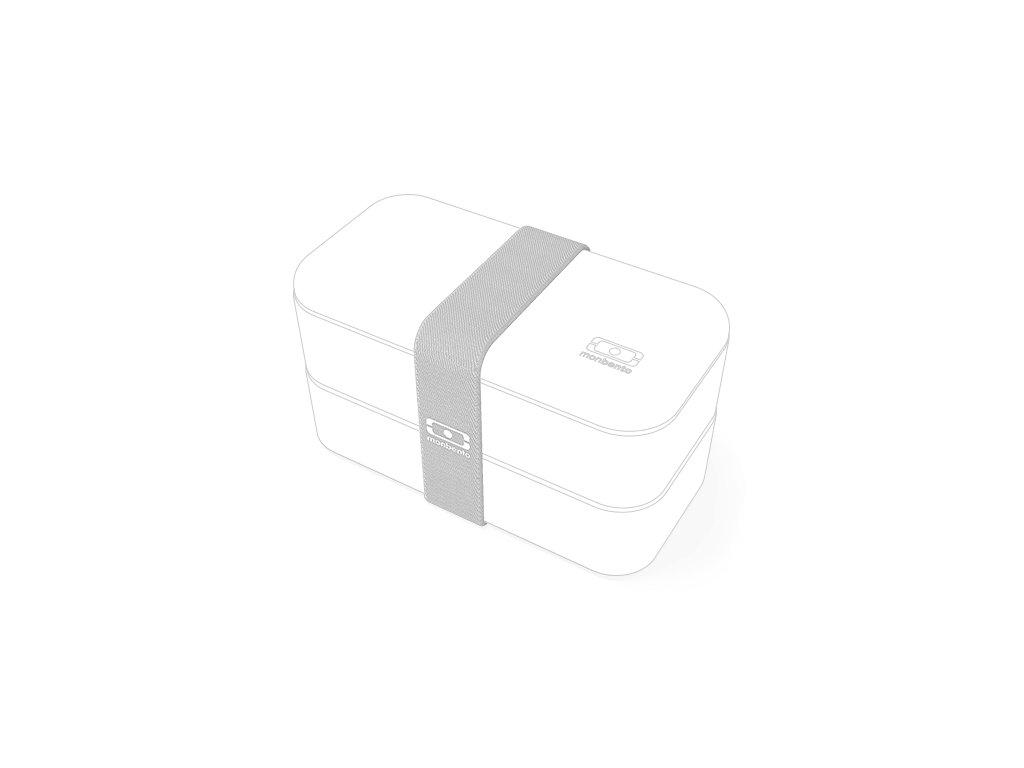 Gumička Pre Lunchbox Monbento Original - Bledo Šedá