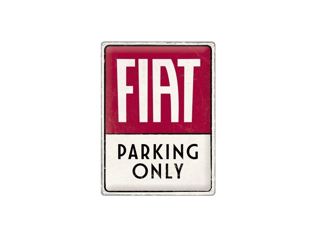 Plechová Ceduľa Fiat Parking Only