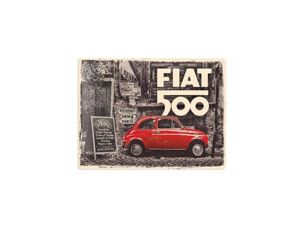 Plechová Ceduľa Fiat 500