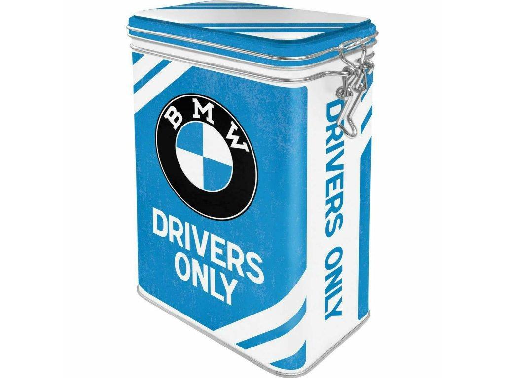 Plechová Dóza s Klipom - BMW Drivers Only