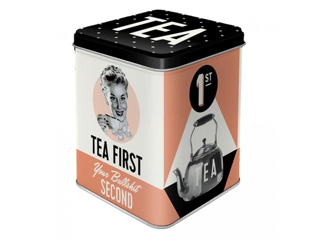 Dóza na čaj Tea First, Bullshit Second