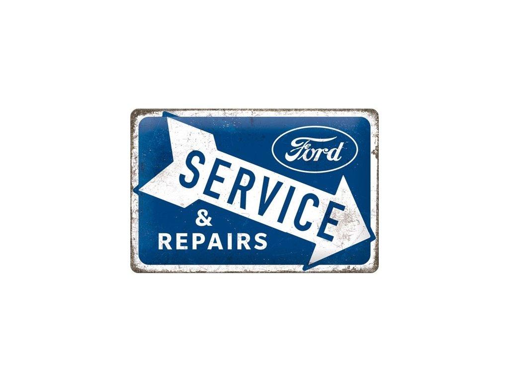 Plechová Ceduľa Ford Service