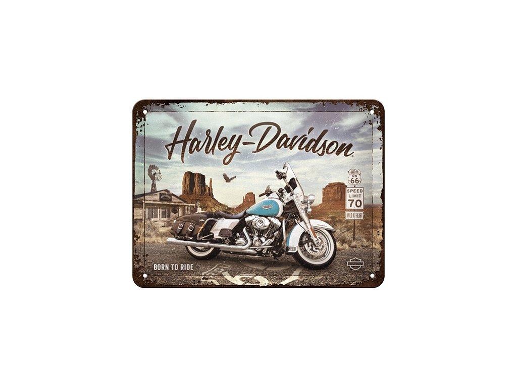Plechová Ceduľa Harley-Davidson Born To Ride