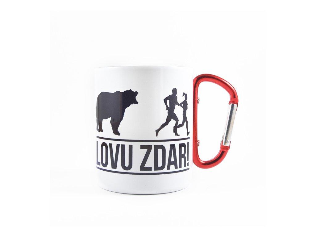 Biely Nerezový Hrnček s Karabínou Lovu Zdar