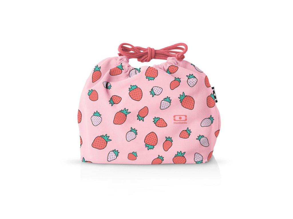 Taška Pre Desiatový Box Monbento Pochette - Strawberry