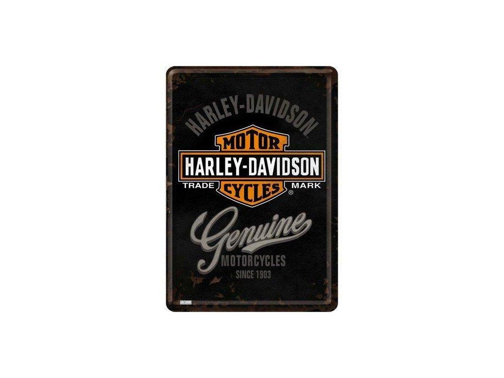 Plechová Pohľadnica Harley-Davidson Genuine