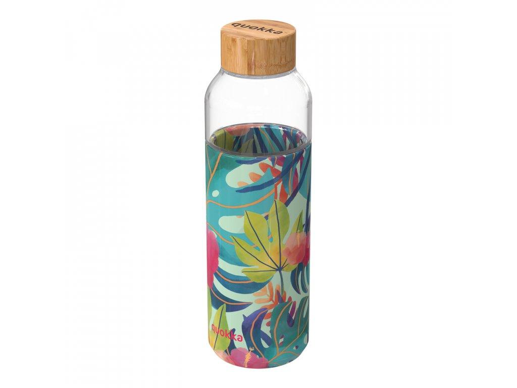 Sklenená Fľaša So Silikónom Quokka Flow - Tropical