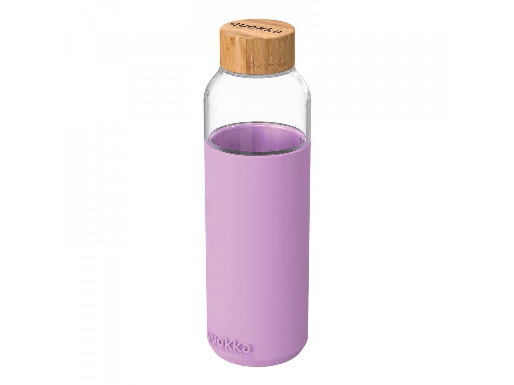 Sklenená Fľaša So Silikónom Quokka Flow - Lilac