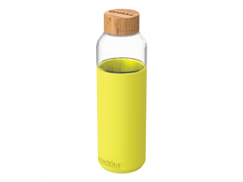 Sklenená Fľaša So Silikónom Quokka Flow - Neon Yellow