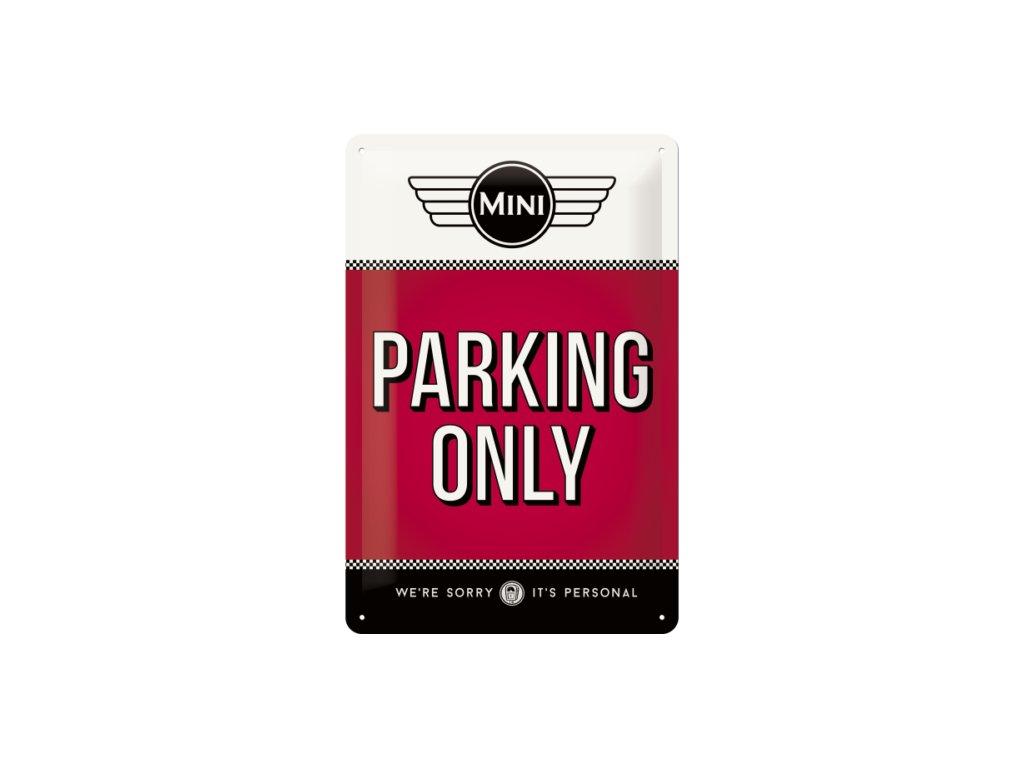 Plechová Ceduľa Mini Cooper Parking Only