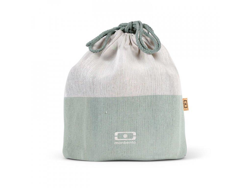 Taška Na Desiatové Boxy Monbento Pochette L - Natural Green