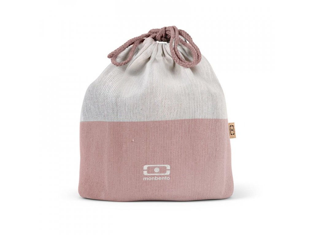 Taška Na Desiatové Boxy Monbento Pochette L -Natural Flamingo
