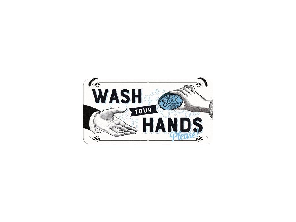 Plechová Ceduľa Wash Your Hands