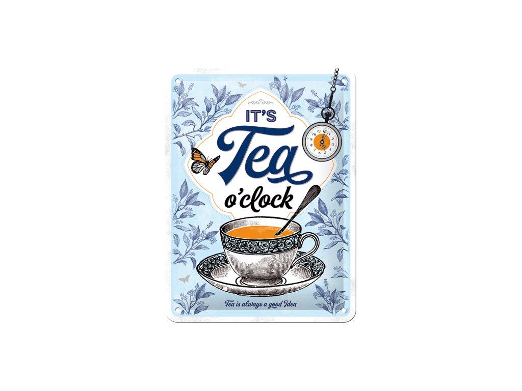 Plechová Ceduľa It's Tea O'Clock