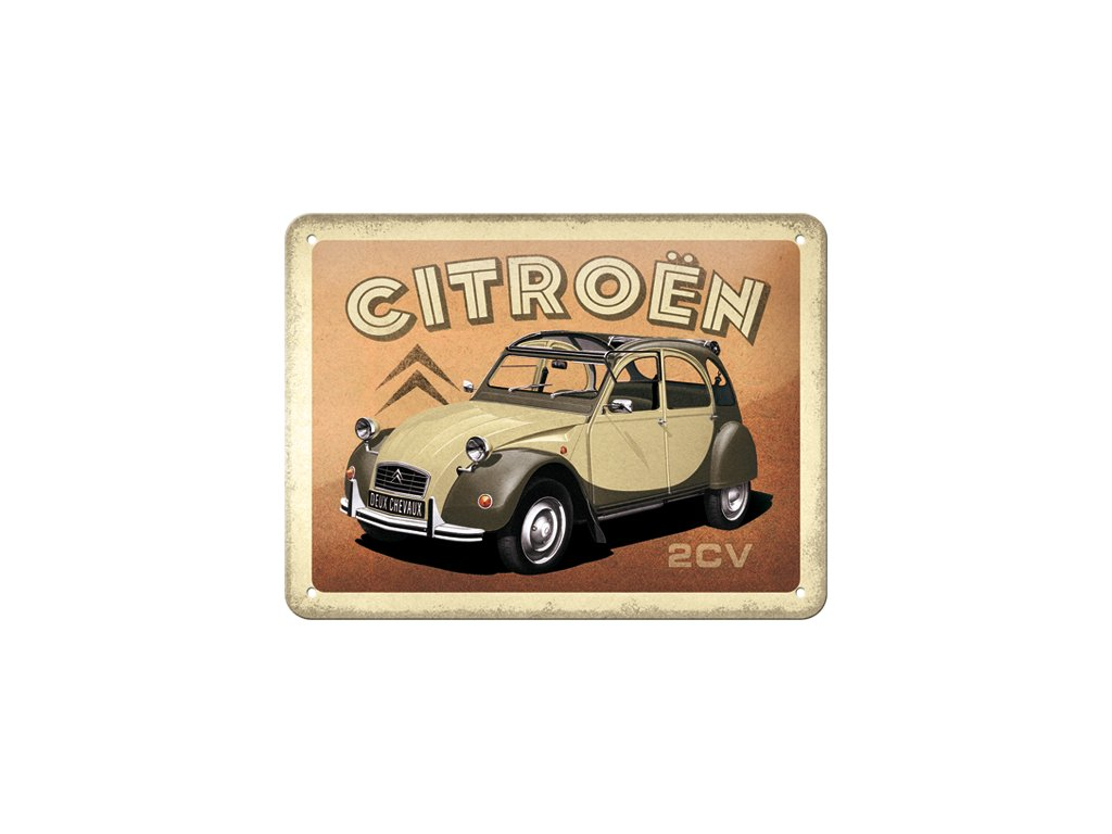 Plechová Ceduľa Citroën 2CV