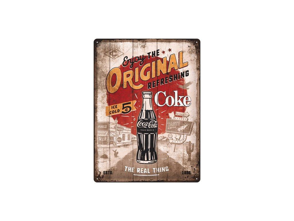 Plechová Ceduľa Coca-Cola Original Coke Highway 66