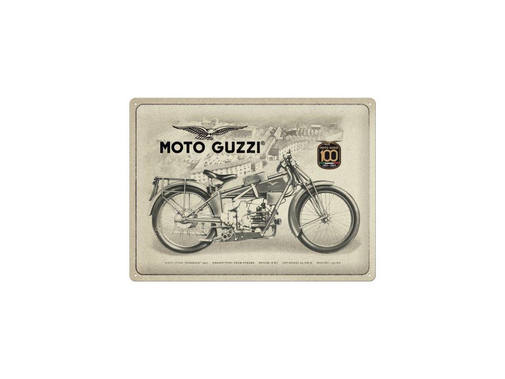 Plechová Ceduľa Moto Guzzi 100 Years Anniversary Special Edition