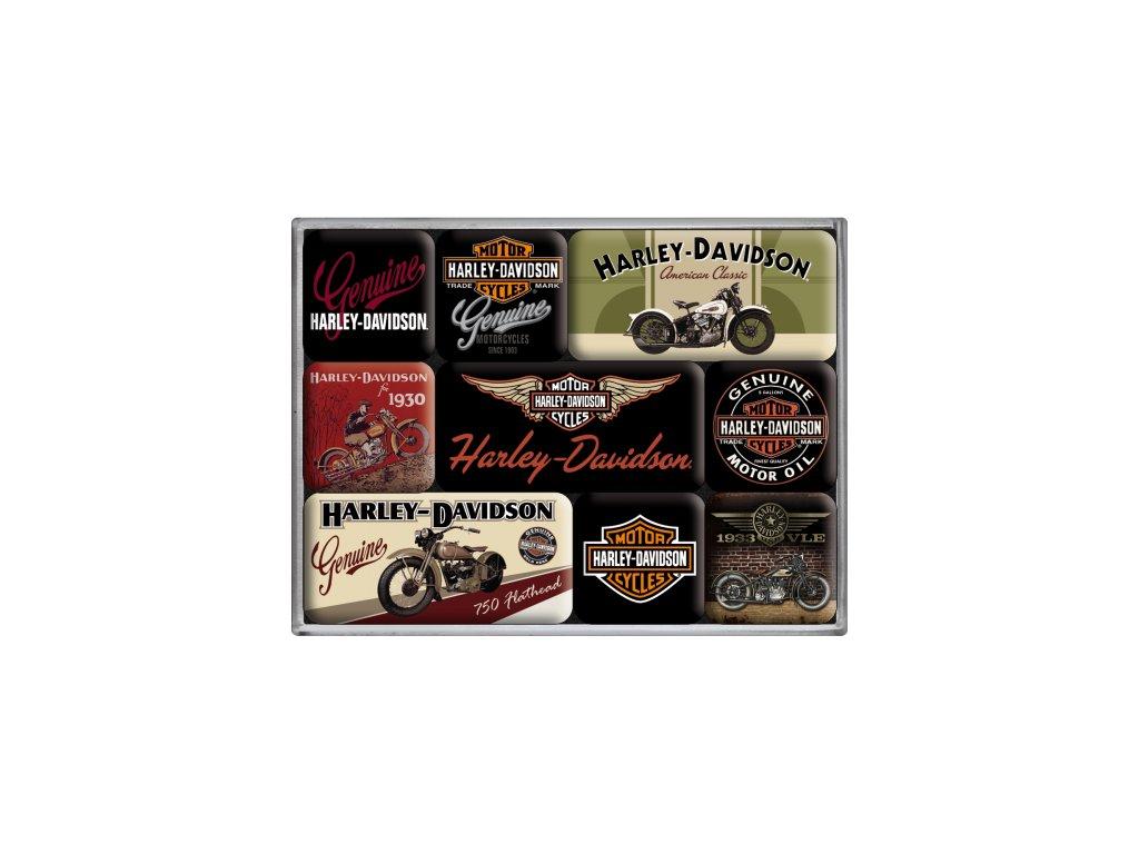 Sada Magnetiek - Harley Davidson