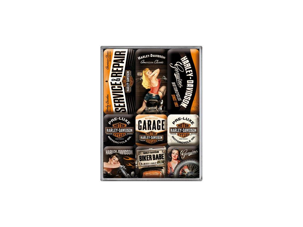 Sada Magnetiek - Harley Davidson Garage