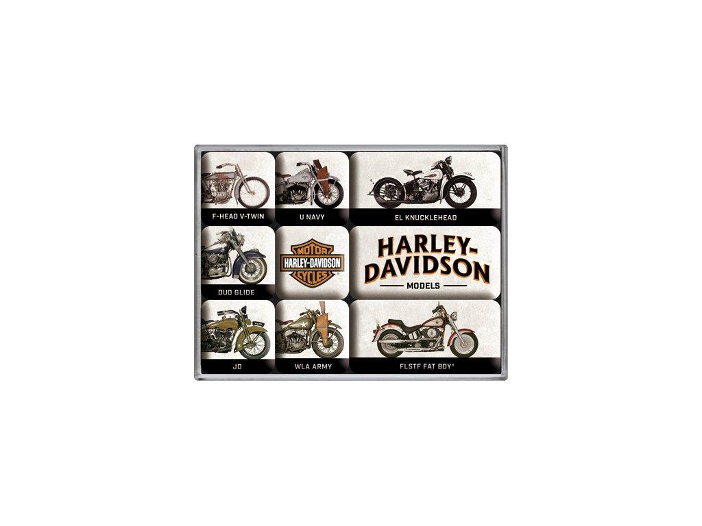 Sada Magnetiek - Harley Davidson Models