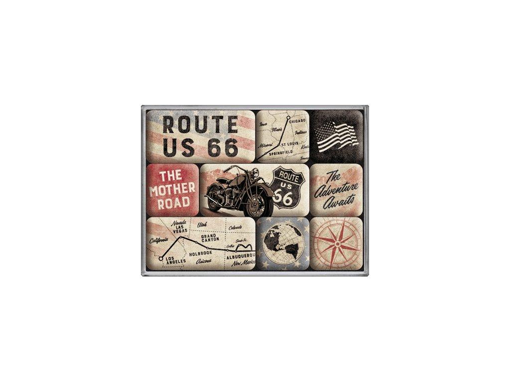 Sada Magnetiek - Route 66 Bike Map