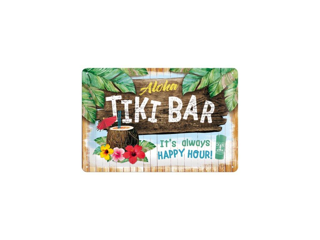 Plechová Ceduľa Aloha Tiki Bar
