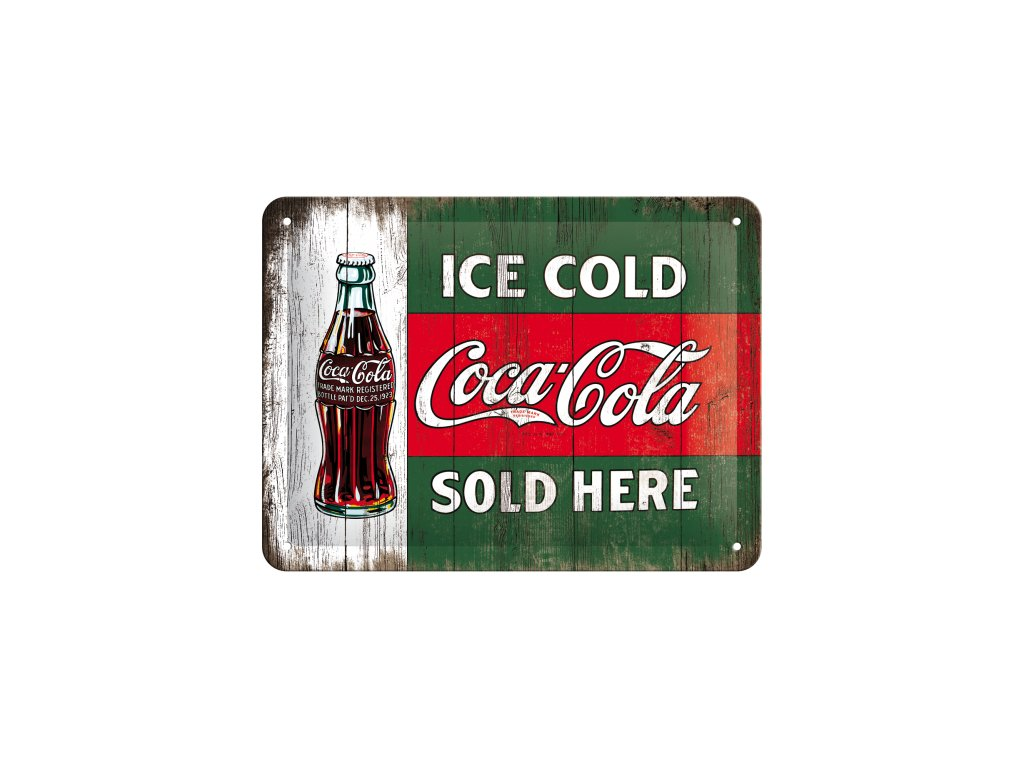 Plechová Ceduľa Coca Cola Sold Here