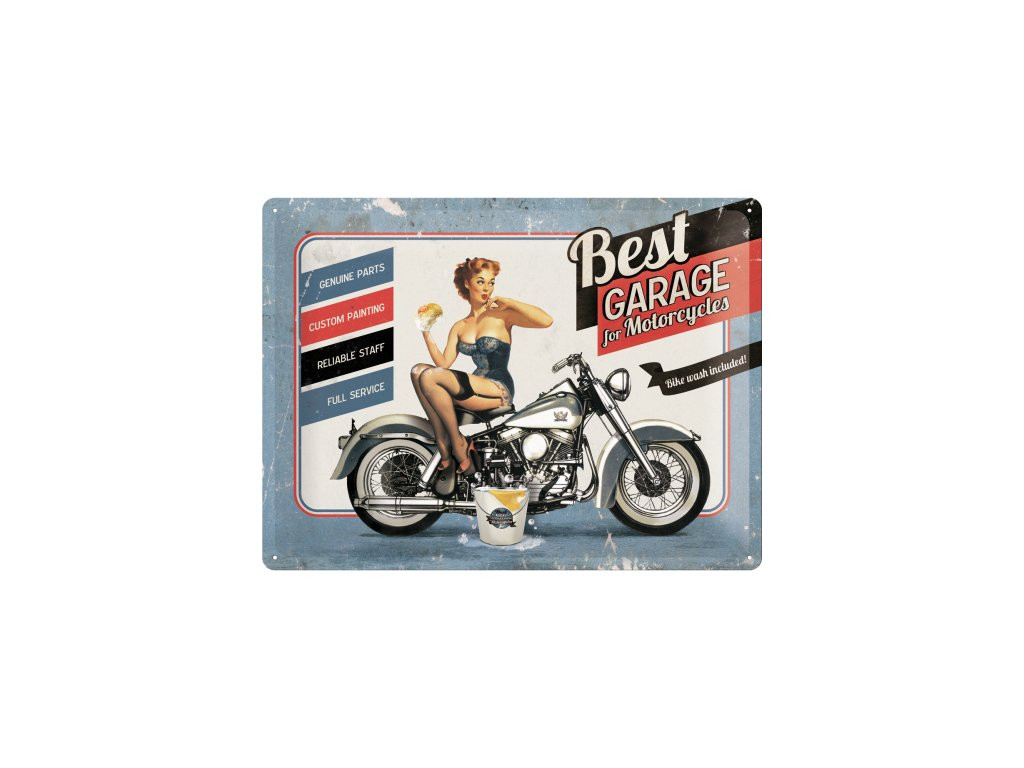 Plechová Ceduľa Best Garage For Motorcycles