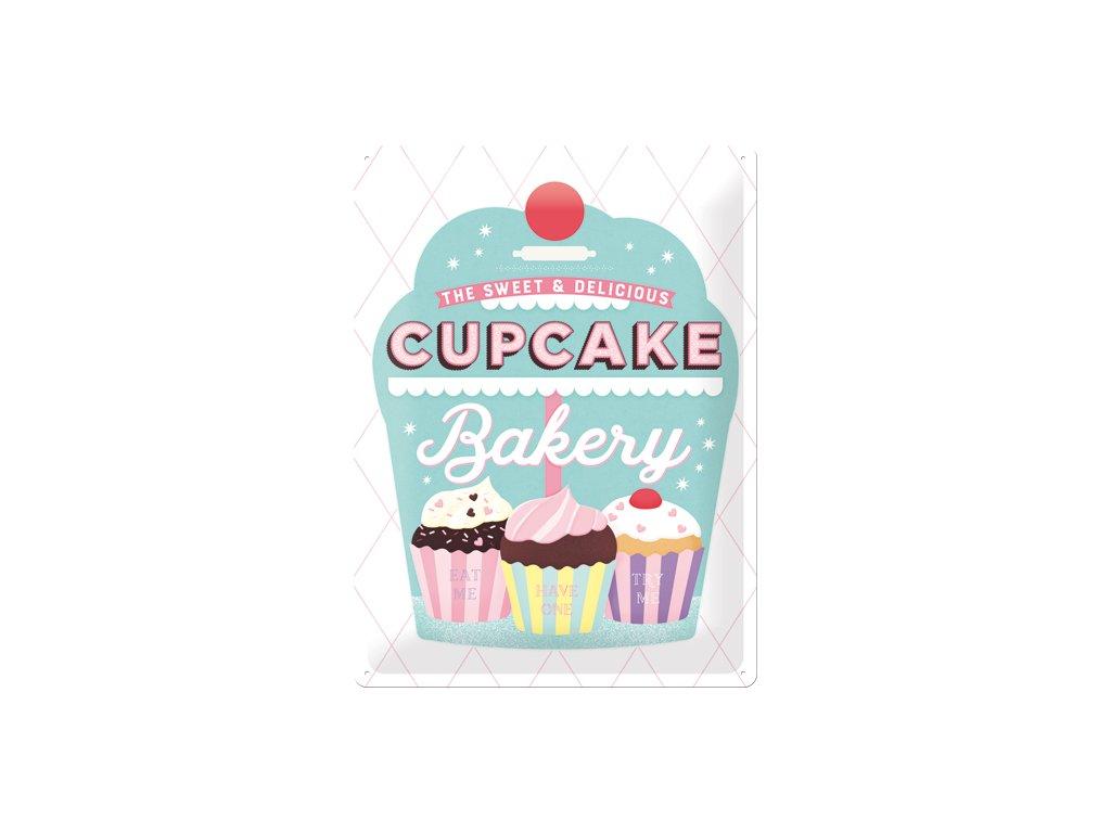 Plechová Ceduľa Cupcake Bakery