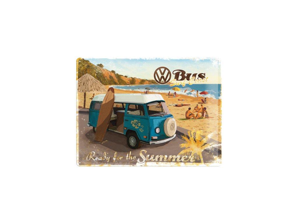 Plechová Ceduľa VW Bus Ready For The Summer