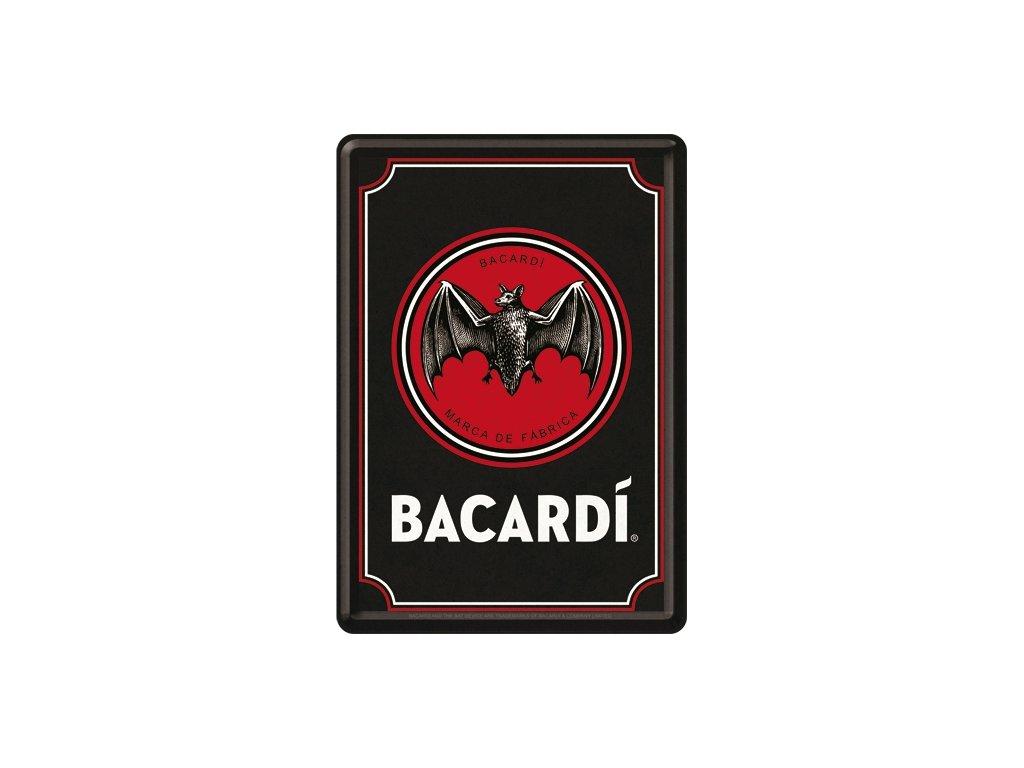 Plechová Pohľadnica Bacardi Logo