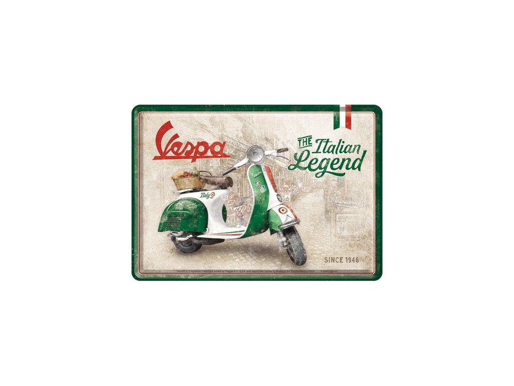Plechová Pohľadnica Vespa The Italian Legend