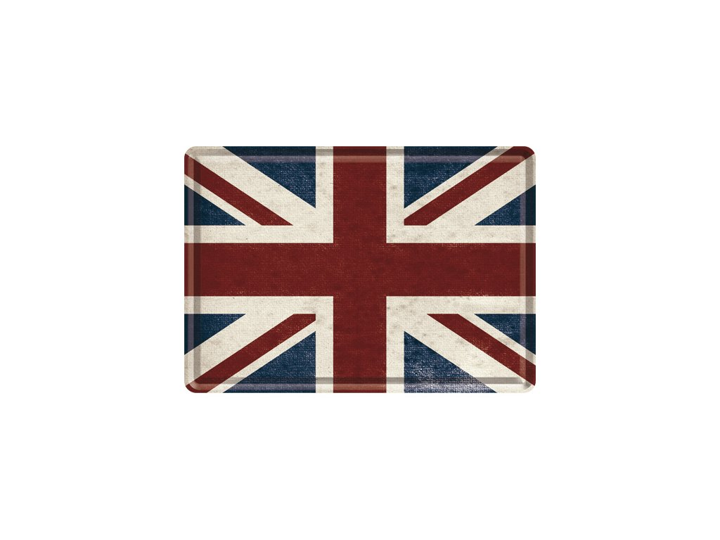 Plechová Pohľadnica Vlajka UK