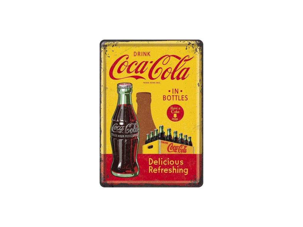 Plechová Pohľadnica Coca-Cola (In Bottles)