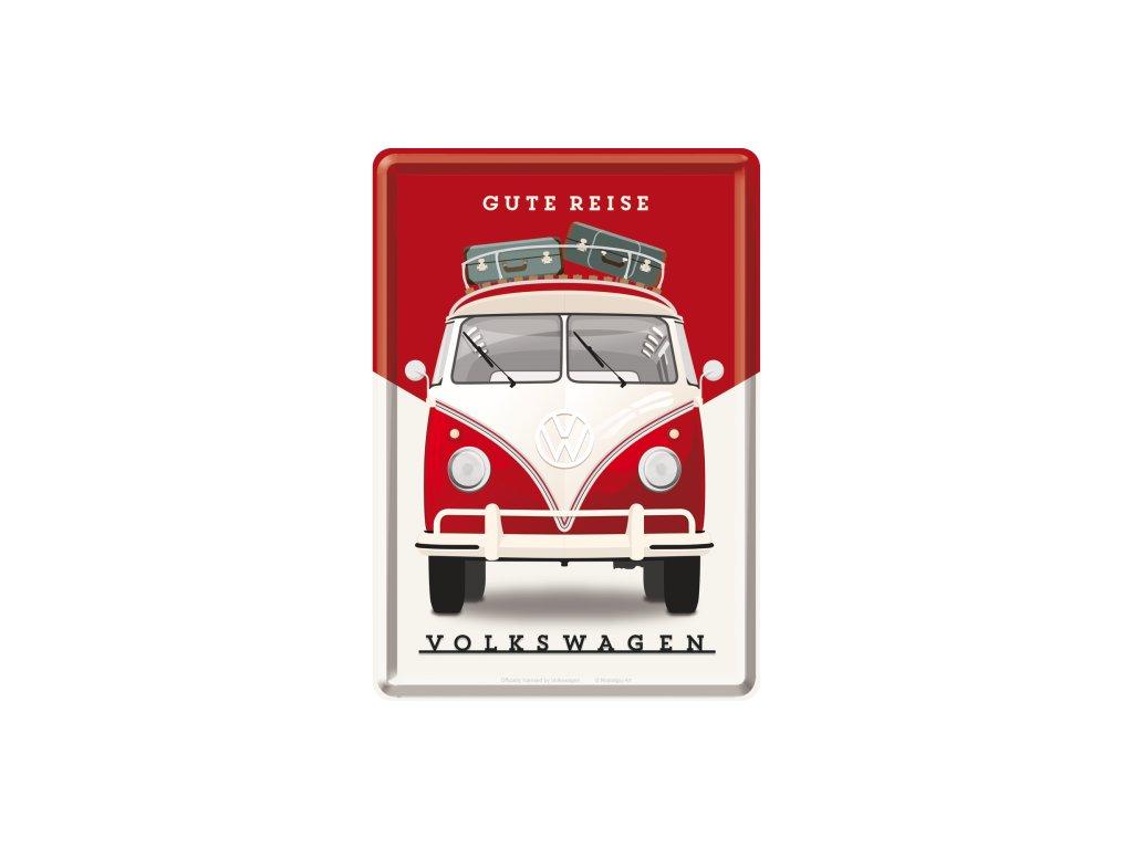 Plechová Pohľadnica Volkswagen (Gute Reise)