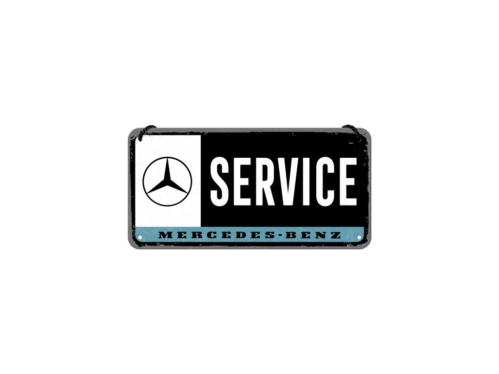 Plechová ceduľa Mercedes Benz Service