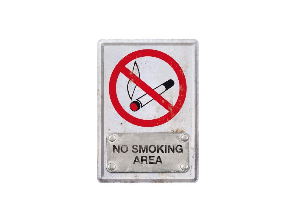 Plechová Pohľadnica No Smoking Area
