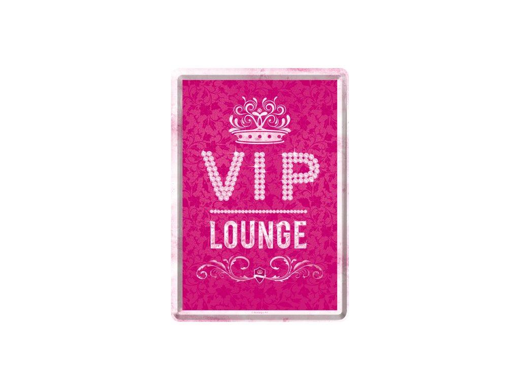 Plechová Pohľadnica VIP Lounge - Ružová