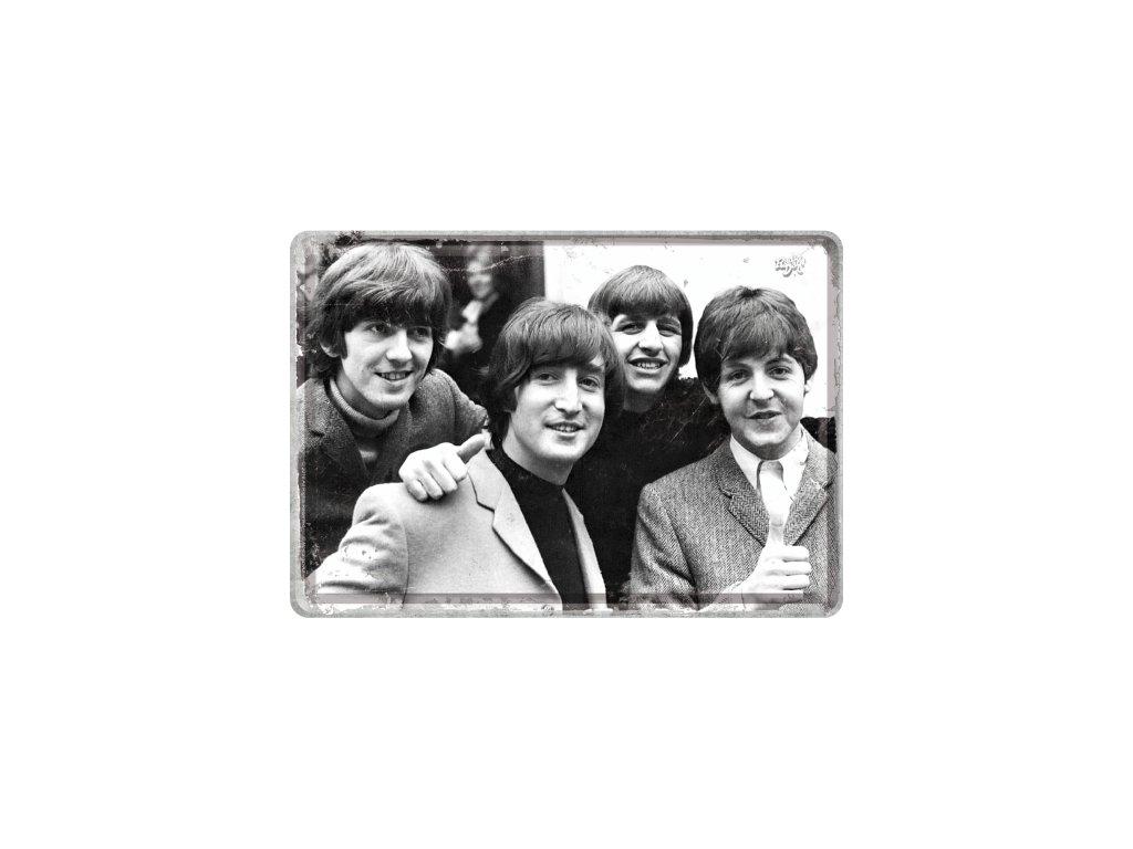 Plechová pohľadnica The Beatles