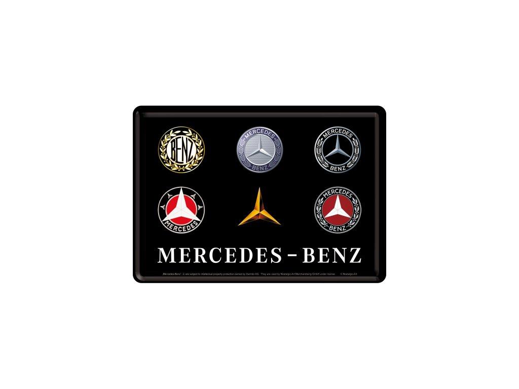 Plechová Pohľadnica Mercedes Benz Logo Evolution